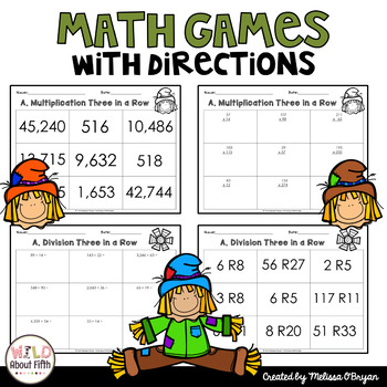 Fall Multi-Digit Multiplication & Long Division Math Centers