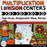 Fall Multi-Digit Multiplication & Long Division Math Centers