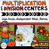 Multiplication & Division Math Centers - Fall Themed