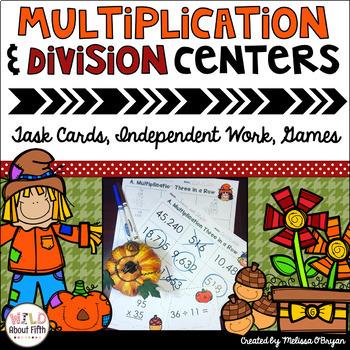 Fall Themed Multi-Digit Multiplication & Long Division Mat
