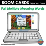 Fall Multiple Meaning Words Boom Cards
