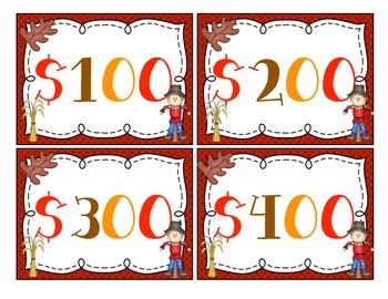 Fall Multiplication (2 Digit x 1 Digit) Task Cards