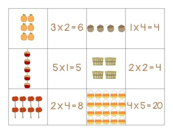 Fall Multiplication Array Match