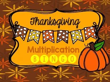 Fall Multiplication BINGO game 2-10