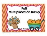 Fall Multiplication Bump Fluency Games