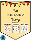 Fall Multiplication Bump Game- 6 sided dice