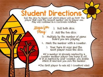 Multiplication Game (Fall Bump)