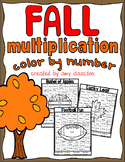 Fall Multiplication Color by Number