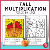 Fall Multiplication Color by Number Packets