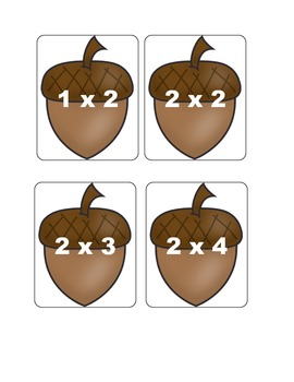 Fall Multiplication Fact Games ( x 2)