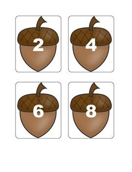 Fall Multiplication Fact Games ( x 2)
