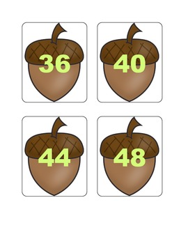 Fall Multiplication Fact Games ( x 4)