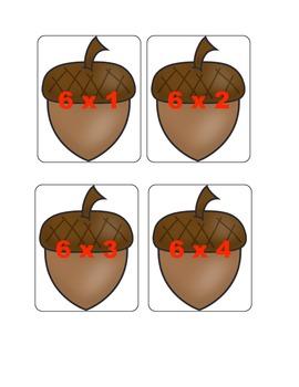 Fall Multiplication Fact Games ( x 6)