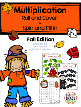 Fall Multiplication Games By Tara Hardink My First Grade Zoo Tpt