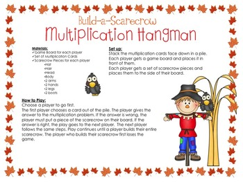 Fall Multiplication Hangman