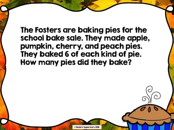 Fall Multiplication Powerpoint Game- Great for Beginners of Multiplication