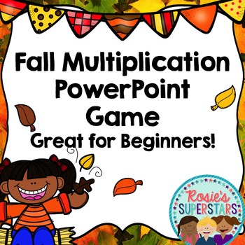 Fall Multiplication Powerpoint Game- Great for Beginners o