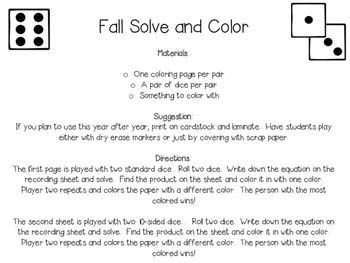 Fall Multiplication Roll and Cover