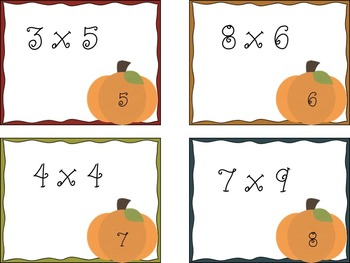 Fall Multiplication Scavenger Hunt
