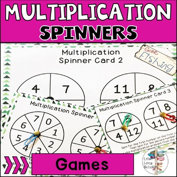 Fall Multiplication Spinners Math Station Activity