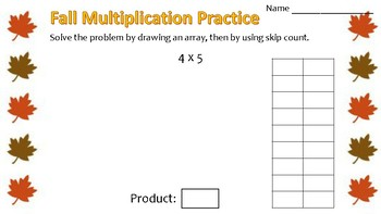 Fall Multiplication Using Arrays & Skip Count