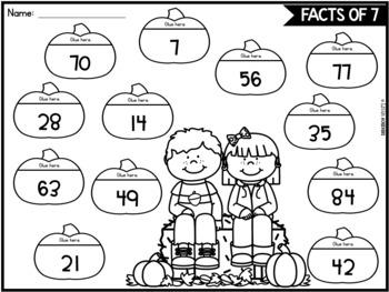 Fall Multiplication Worksheets for 3rd Grade | Fall Math Activities