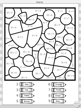 Fall Multiplication and Division Color By Number ...