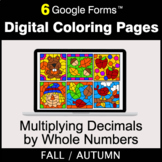 Fall: Multiplying Decimals by Whole Numbers - Digital Coloring Pages