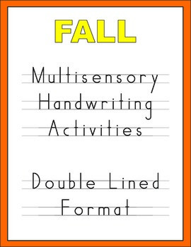 Fall Multisensory Handwriting Activities