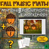 Fall Music Activities- Acorn Powerpoint Fall Music Game