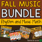 Fall Music Activities BUNDLE- Rhythm Games & Fall Music Games