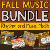 Fall Music Activities BUNDLE- Rhythm Games & Fall Music Games