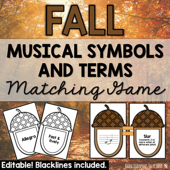 Fall Music Activities: Musical Symbols & Terms Game