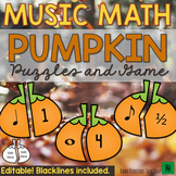 Fall Music Activities - Pumpkin Thanksgiving Music Activities and Puzzles