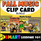 Fall Music Activity Bundle: Clip Cards: Notes Rhythm Symbols Tempo Dynamics
