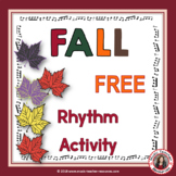 Fall Music Activities: Match the Words to the Rhythms