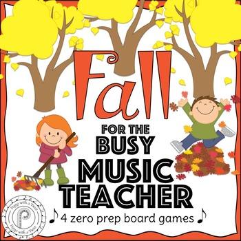 Fall Music Games: 4 Zero Prep Board Games