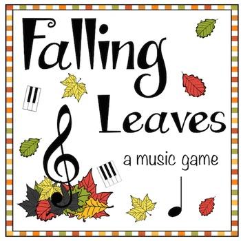 Fall Music Game: Falling Leaves- Grand Staff & Piano Keys