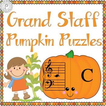 Fall Music Game: Pumpkin Grand Staff