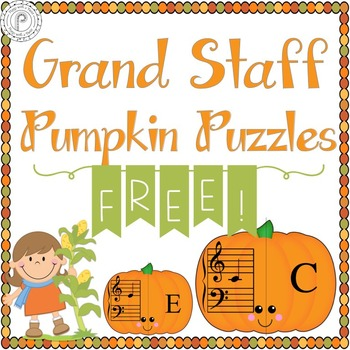 Fall Music Game: Pumpkin Grand Staff Freebie!