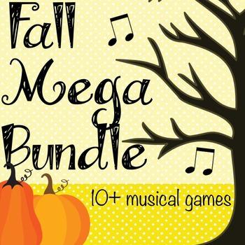Fall Music Games Mega Bundle- 10+ Games and Activities!