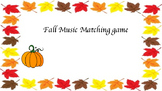 Fall Music Match Game level 1