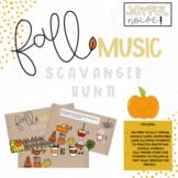 Fall Music Scavenger Hunt Game for Google Slides