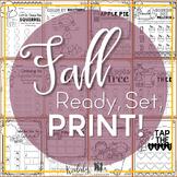 Fall Music Worksheets {Ready Set Print}