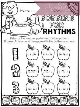 Music Worksheets for Fall {Ready Set Print}