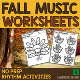 Fall Music Worksheets and Halloween Music Activities