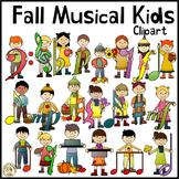 Fall Musical Kids Clipart