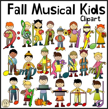 Fall Musical Kids Clipart