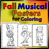 Fall Musical Posters for Coloring