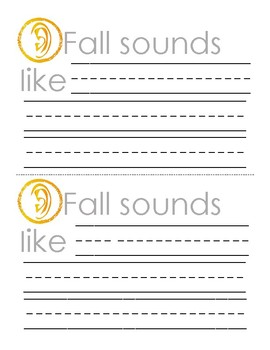 Fall - My Five Senses